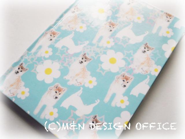 柴犬イラストのノートブック(ライトブルー)