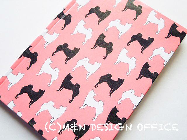 柴犬シルエットのノート(ピンク)