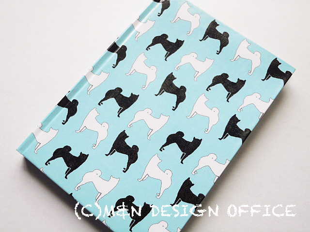 柴犬シルエットのノート(ブルー)