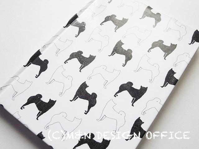 柴犬シルエットのノート(ホワイト)