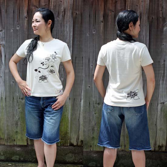 【JIKUU】 レディースTシャツ『花』