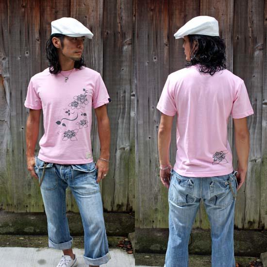 【JIKUU】 メンズTシャツ『花』