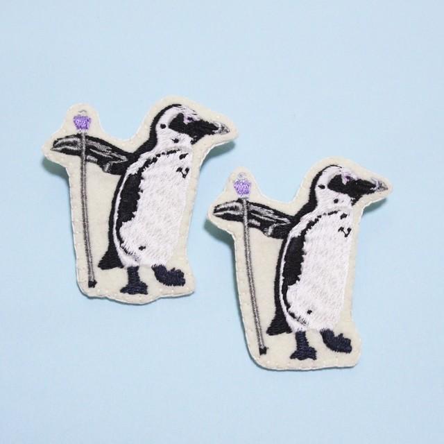 ペンギンステッキ団 ケープペンギンのブローチ(受注生産)
