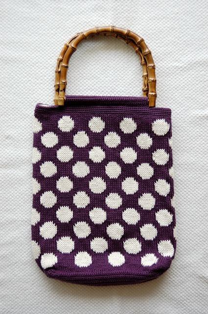 ドットバック*紫に白ドット