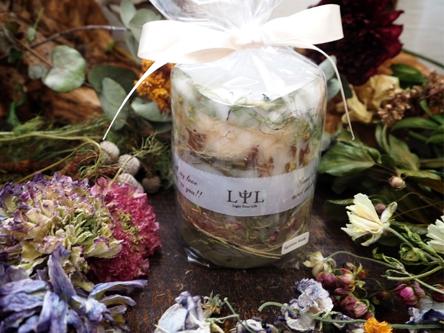 sustainable  botanical candle〜ホワイトティー〜