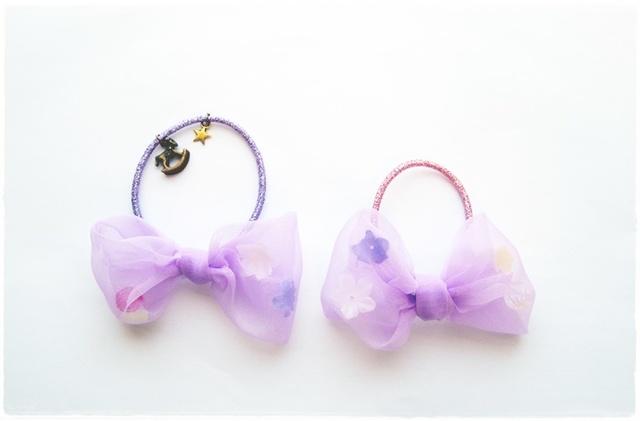 送料0!ママとおそろい♪ヘアゴム*Purple【再販?】