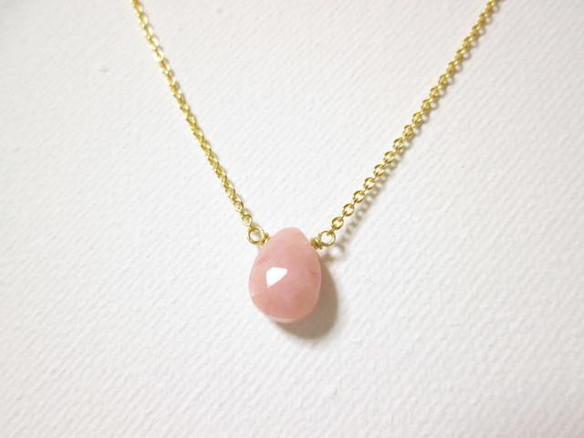 《送料無料》ピンクオパール ネックレス
