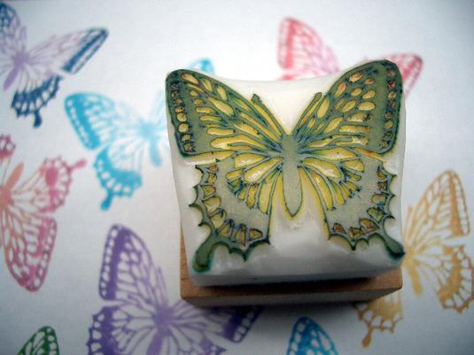 (ご注文品)消しゴムはんこ Butterfly