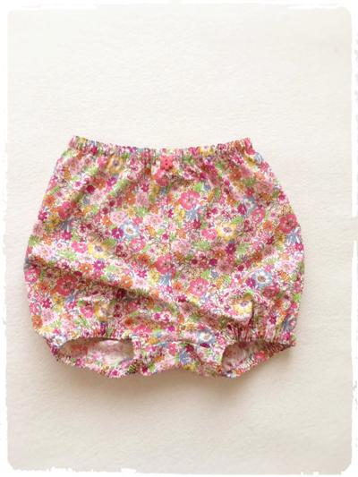 ベビー用カバーパンツ・ブルマ *お花柄* ピンク