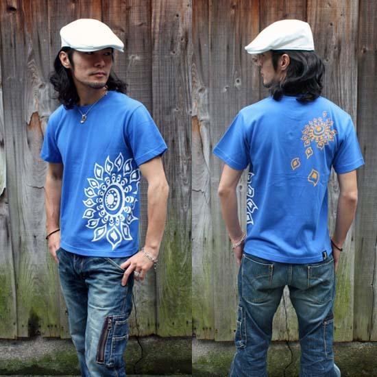 【JIKUU】 メンズTシャツ『ヒマワリ』ビビッド