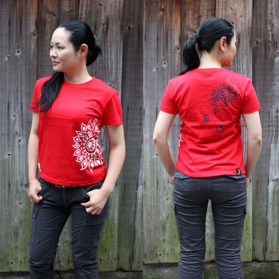 【JIKUU】 レディースTシャツ『ヒマワリ』ビビッド