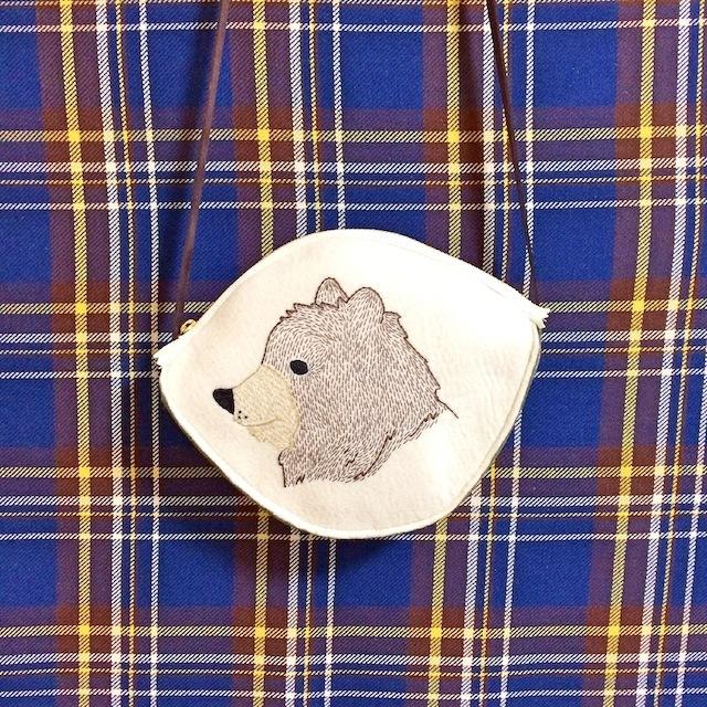 クマ刺繍の子供用ショルダー