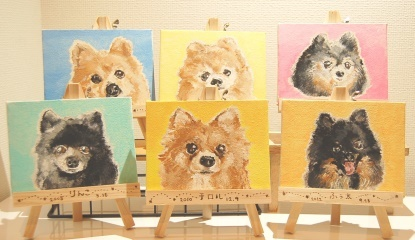 オーダー☆ペットの絵画風ミニキャンパス