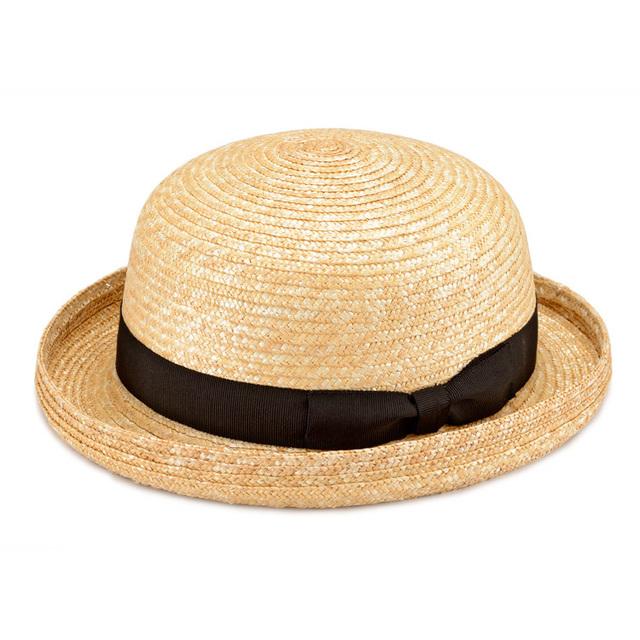 Clement(クレマン)ボーラーハット 子供用 キッズ 麦わら 帽子 ストロー ハット 54cm [UK,H010,CLBK54]