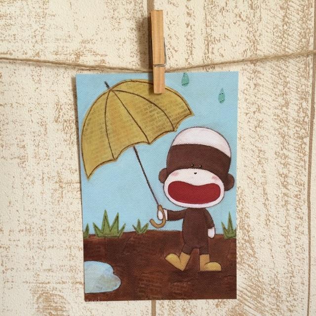ポストカード 5枚セット(Enjoyin A Rainy Day)