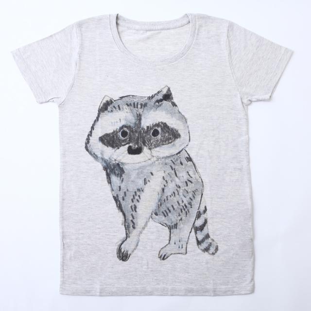 Tシャツ  あらいぐま