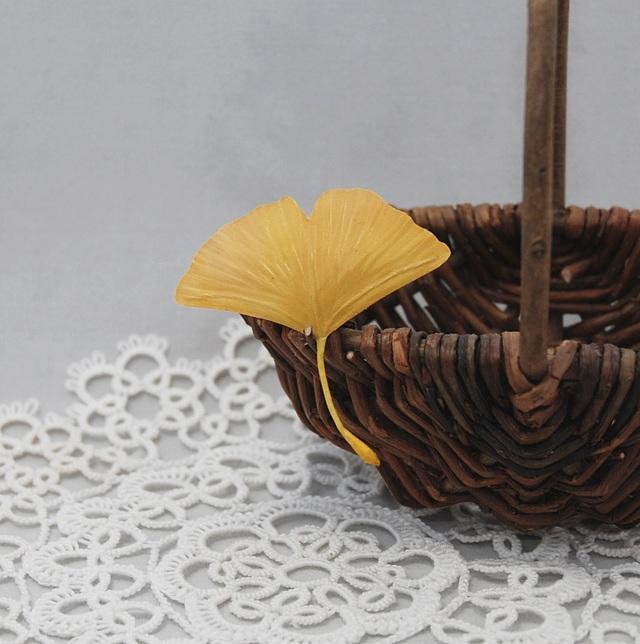 Autumn Leaf Ginkgo YA[再販・留め具の選択可]