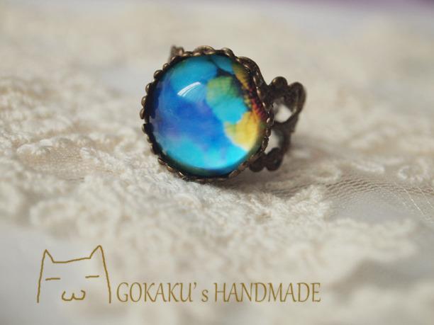 【新色】虹色羽指輪