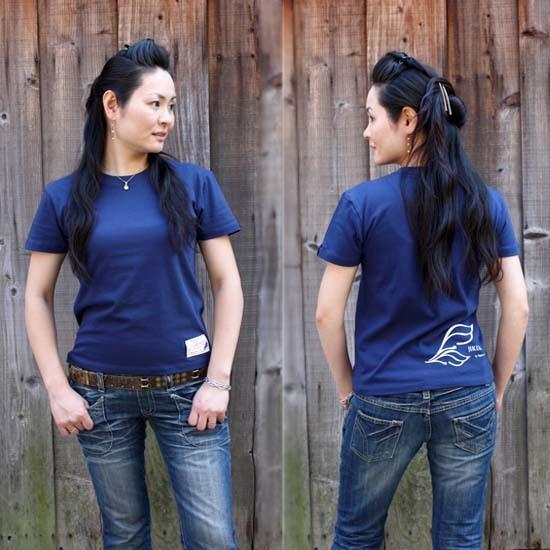 【JIKUU】 レディースTシャツ『ダブルフェザー』