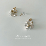 【2019夏新作】Snow Flower & Drop Earrings