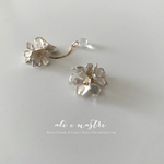 【2019夏新作】Snow Flower & Drop Pierced Earrings