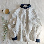 Linen stripe(navy)