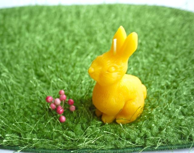 ウサギのミツロウキャンドル