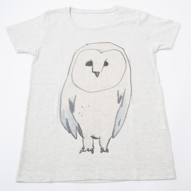 Tシャツ  白いフクロウ