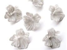 6pcs)gray marble flower beads