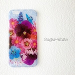 iPhone ケース ❤︎  purple bouquet