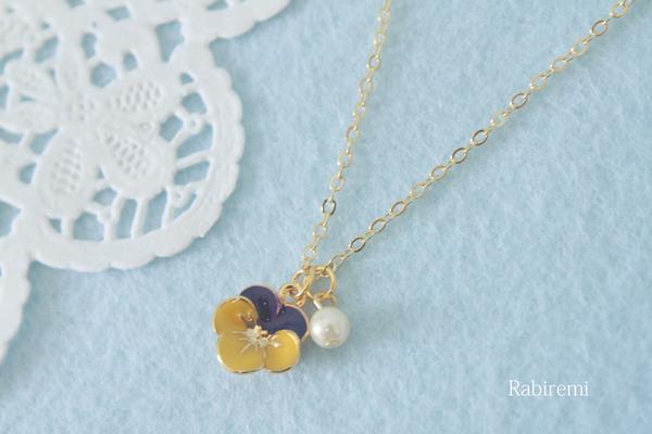 黄色のお花ネックレス