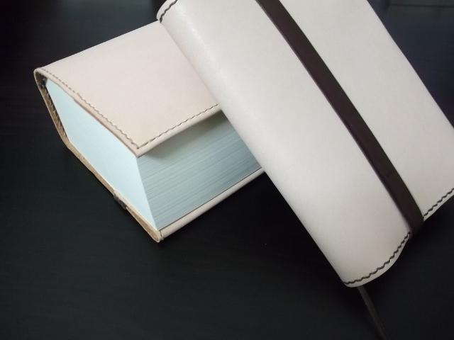 ≪売り切れ≫ レザーブックカバー(文庫本サイズ 6cmまで対応)