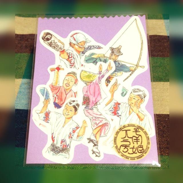 和−【日本の祭りシール(大)】阿波踊り・ソーラン・流鏑馬