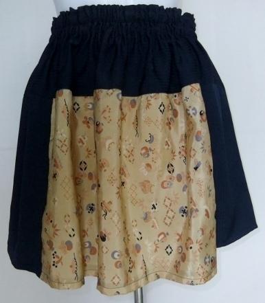 着物リメイク 羽織裏と着物で作ったミニスカート 284