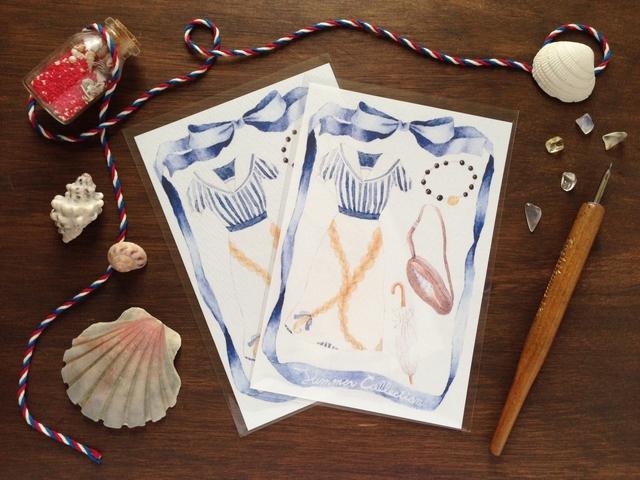 季節の装いポストカード SummerCollection