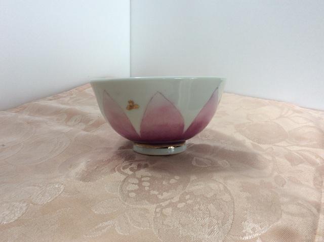 紫色のグラデーションの茶碗