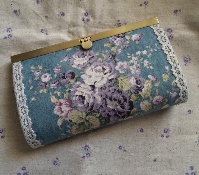 財布(ブルー花)