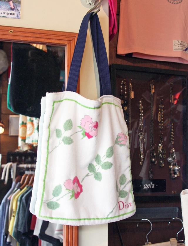 【JIKUU】 Diorタオルリメイクミニトートバッグ