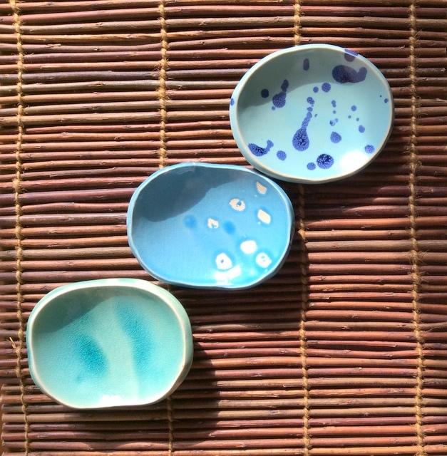 空色小皿3枚セット