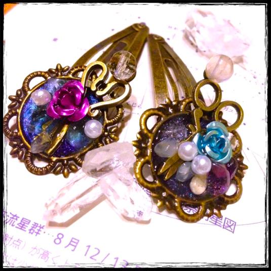 水晶の泉の髪飾り-花摘み-
