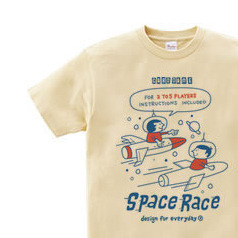 SPACE BOY & GIRL 150.160(女性M.L) Tシャツ【受注生産品】