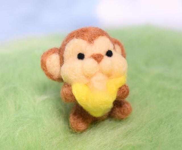 取れたてバナナが大好物 もぐもぐモンキーさん