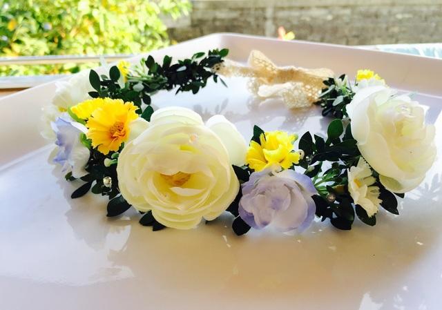 おやゆび姫の花かんむり   初夏ホワイト&イエロー  ウェディング特集