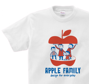 APPLE FAMILY 150.160(女性M.L) Tシャツ【受注生産品】