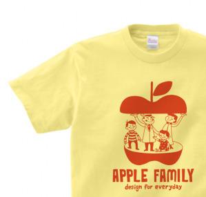 【再販】APPLE FAMILY 150.160(女性M.L) Tシャツ【受注生産品】