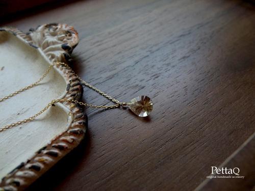 【K14GF】宝石質ブラウントパーズのネックレス