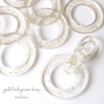⭐️8pcs)gold hologram hoop parts