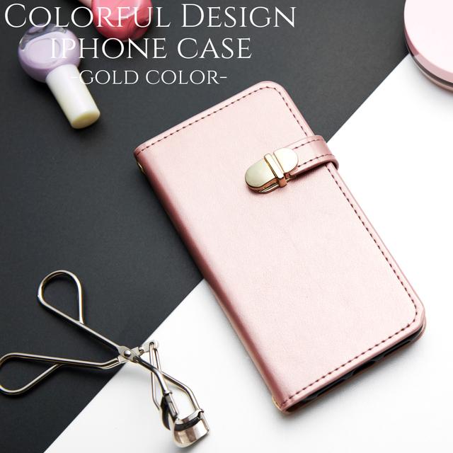 d247c5ddcd 手帳型 iphone ケース iphone8 iphone7 iphoneXs iphoneXR iphoneXsMAX スマホケース ミラー付き 大人 可愛い シンプル かわいい ピンクゴールド