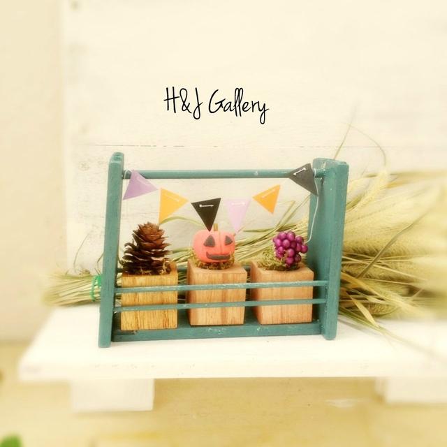 ☆ハロウィンの小さな小さなちーさな植木鉢