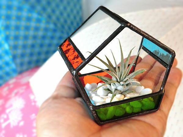「てのり テラリウム セット」 エアプランツ ステンドグラス 再販